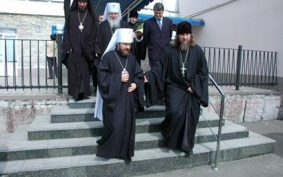 2008 Игорь Собко встреча митрополита Илариона.