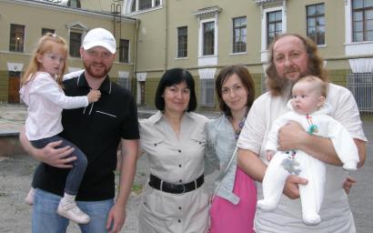 2012Игорь Собко  Моя семья зять протоиерей,дочь,жена и внуки