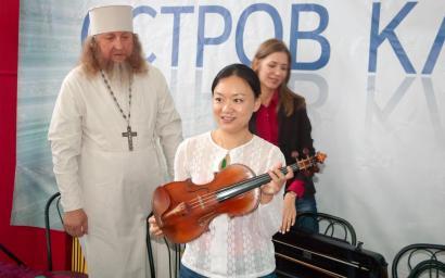 """Qian Zhou. """"Остров классики"""" 2014г. Скрипка Гваданини"""