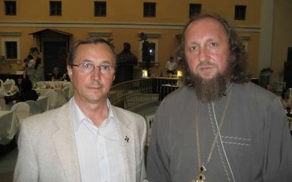 Игорь Собко и Н. Бурляев на юбилее  2 года телеканалу Спас